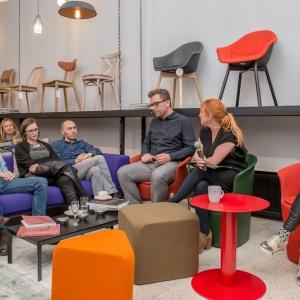 Spotkanie z designerami w showroomie Euforma.