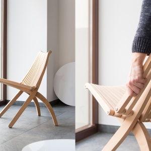 Krzesło Lotos. Projekt: Romuald Ferens (1980). Fot. Politura