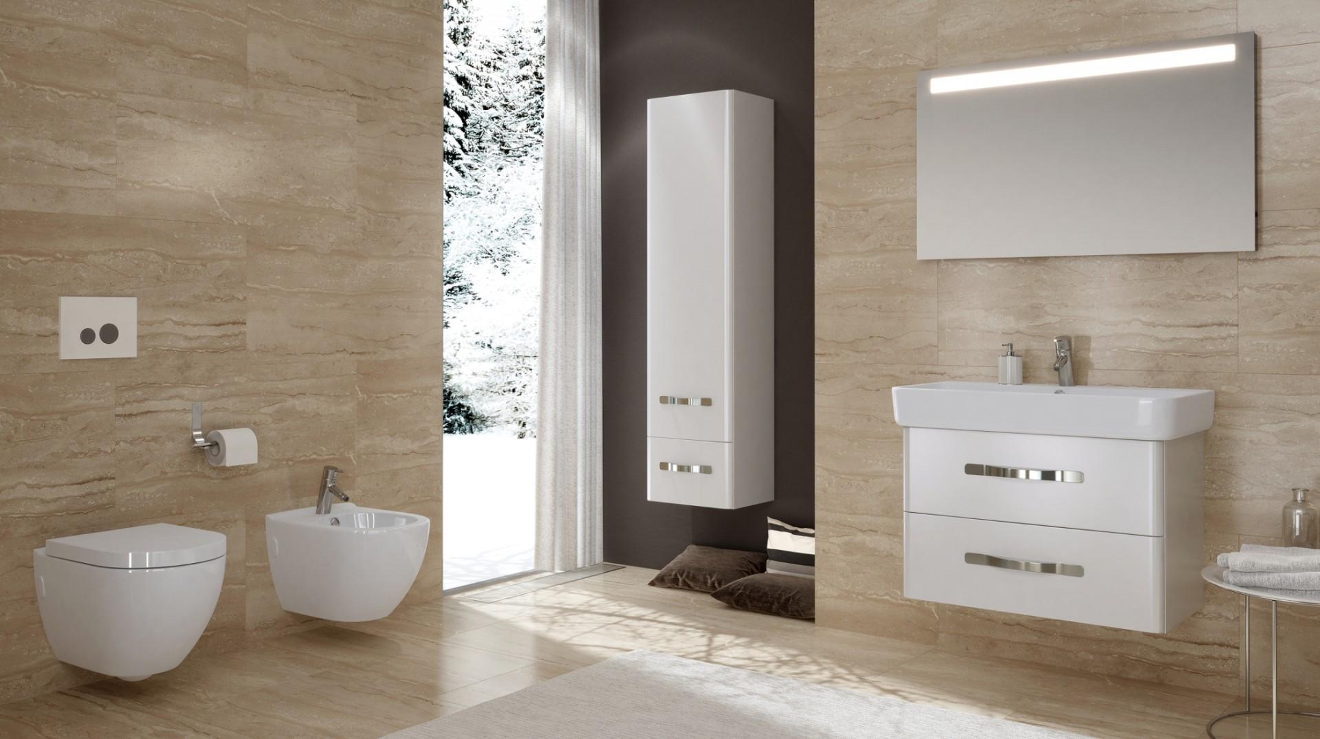 Kolekcja mebli łazienkowych Urban Harmony firmy Opoczno. Fot. Opoczno