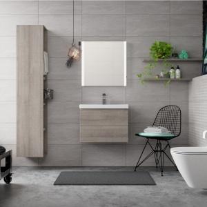 Łazienka w miejskim stylu jest nowoczesna i lekka w odbiorze. Fot. Cersanit