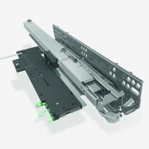 Mechanizm Tipmatic Soft Close zamontowany w prowadnicy Dynapro LQ. Fot. Würth Polska