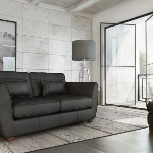 Sofa Arizona dostępna jest w zestawie z pufem.  Fot. Adriana Furniture
