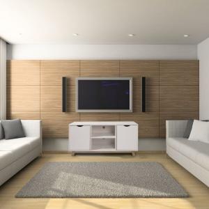 Szafka pod telewizor o prostej formie. Fot. Homekraft