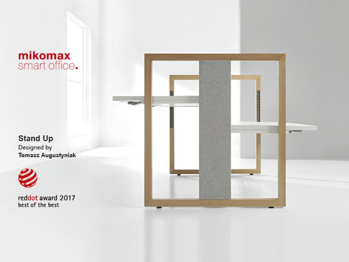 Biurko Stand Up firmy Mikomax Smart Office otrzymało w tym roku nagrodę Best of the Best w kategorii Product Design 2017. Fot. Mikomax Smart Office
