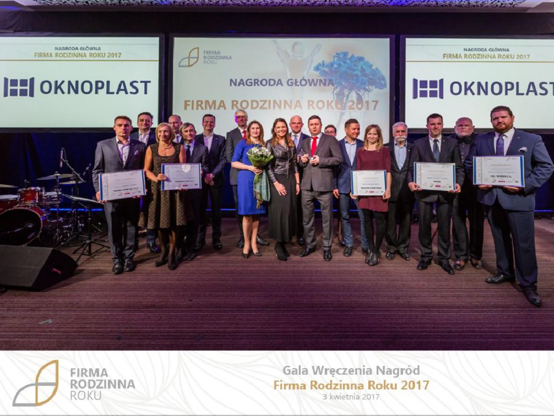 Wręczenie nagród i wyróżnień w konkursie Firma Rodzinna Roku 2017