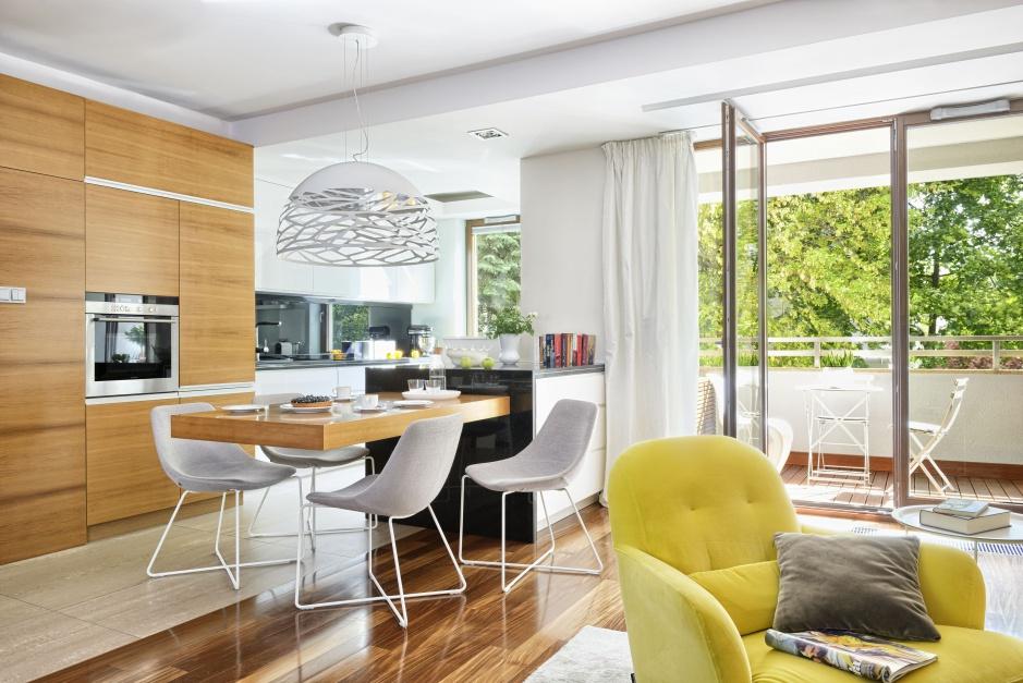 Urządzamy  Przytulna kuchnia Piękne meble z rysunkiem drewna  meble com pl -> Urządzamy Mieszkanie Kuchnia