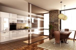 Kuchnia otwarta na salon - jak dobrać akcesoria meblowe?