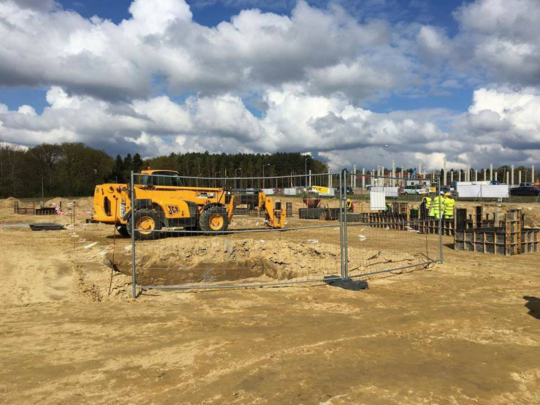 W kwietniu 2017 wmurowano kamień węgielny pod budowę Brinkmann Manufaktur. Fot. Lubuski Park Przemysłowo-Technologiczny