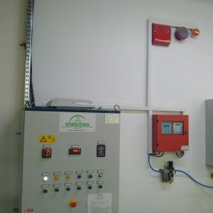 Wszelkie zabezpieczenia instalacji odpylania są dodatkowo sprzężone z systemem fotokomórek, czujników bezpieczeństwa, wykrywaczy iskier. Fot. IM