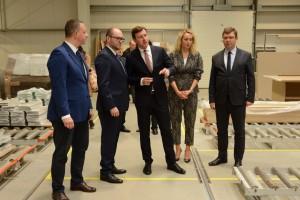 O inwestycjach - na spotkaniu w Żuławskiej Fabryce Mebli