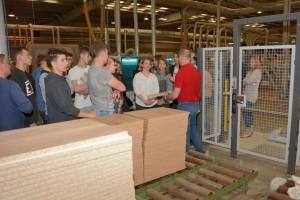 Uczniowie z Olsztynka odwiedzili Fabrykę Mebli Wójcik