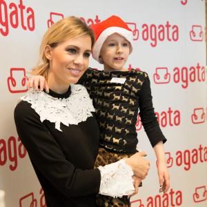 Dziennikarka Agnieszka Chyży podczas eventu firmy Agata