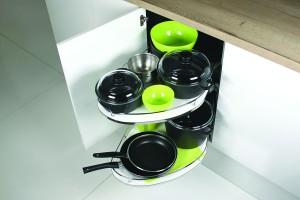Jak zagospodarować kuchenne szafki narożne?