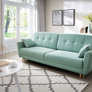 Sofa Dakota w modnej, pastelowej kolorystyce. Fot. Salony Agata