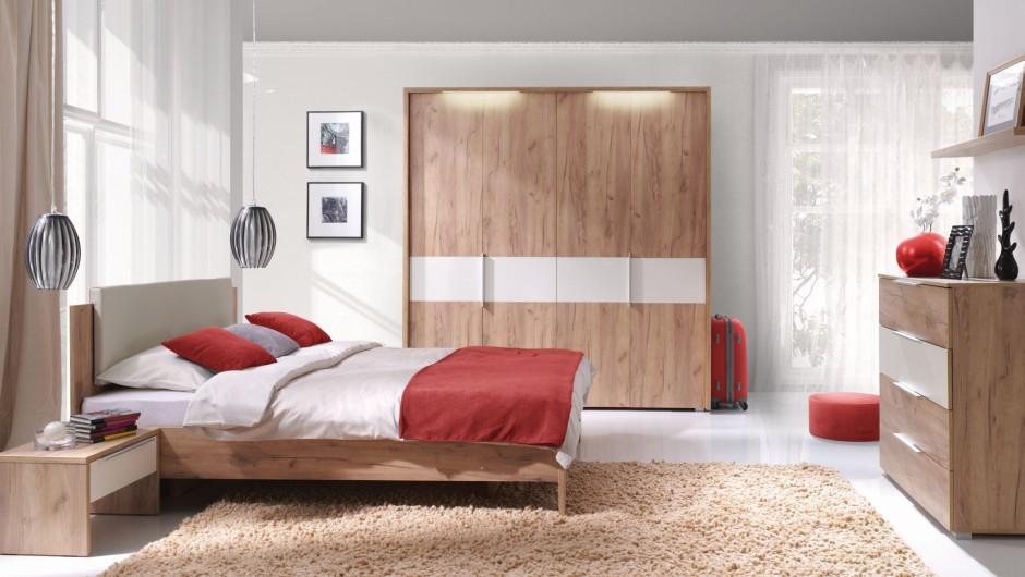 Sypialnia Melody ma przyjazną, stonowaną kolorystykę. Fot. Wajnert Meble