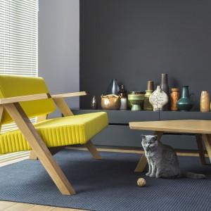 Fotel Clapp marki Noti w żółtym obiciu. Fot. Noti/Euforma