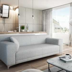 Sofa Dante w modnej szarej kolorystyce. Fot. Adriana Furniture