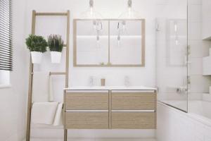 Kolekcja do łazienki z uchwytami listwowymi