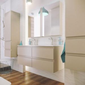 """Meble z kolekcji """"Como"""" marki Defra doskonale pasują do łazienki w minimalistycznym stylu. Fot. Defra"""