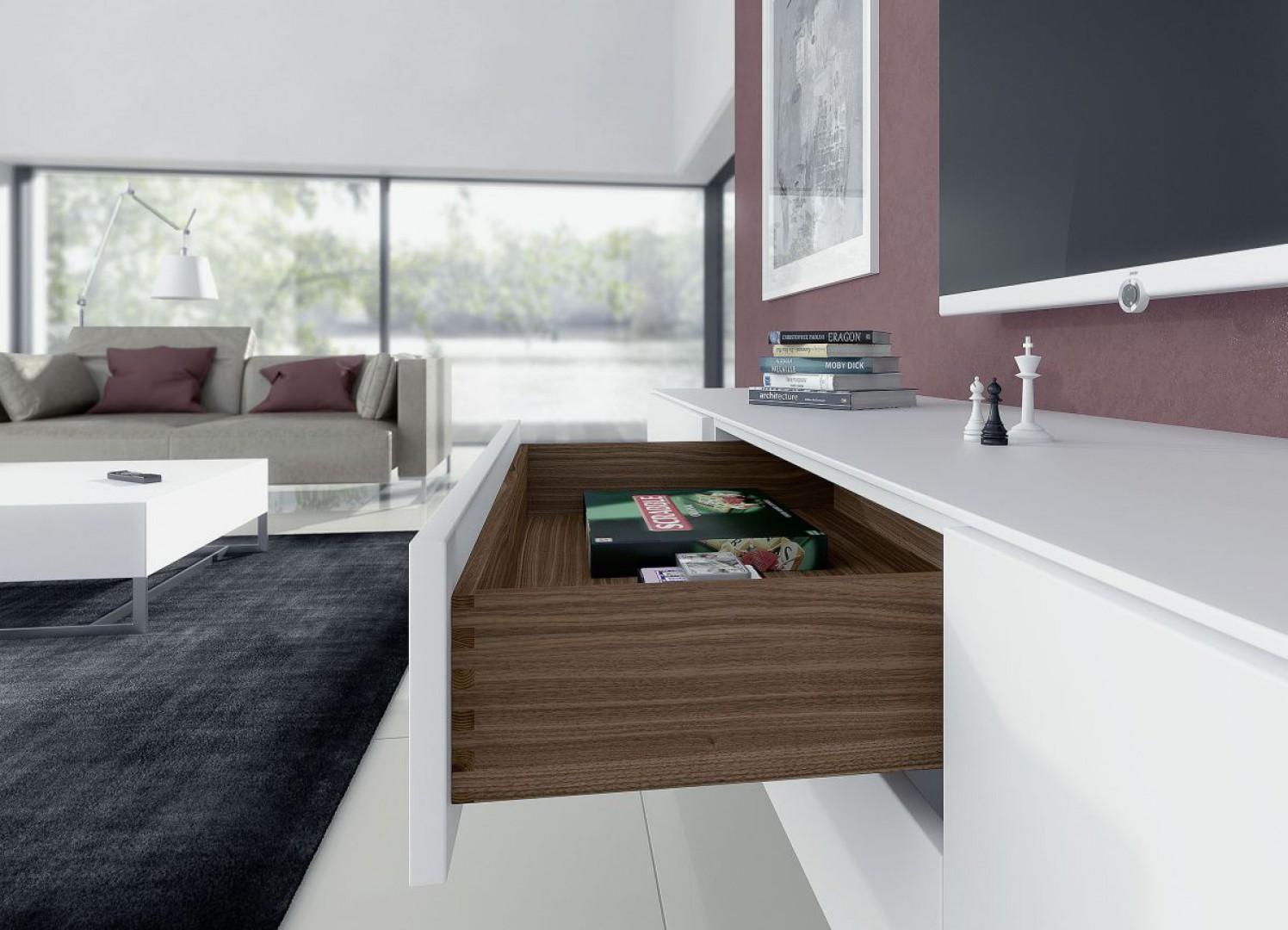 Prowadnica do szuflad drewnianych Quadro EB23 firmy Hettich. Fot. Hettich
