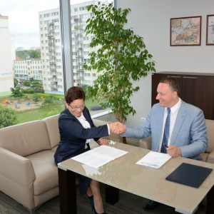 Podpisanie zezwolenia na utworzenie Centrum Logistyki w Morągu. Fot. W-MSSE