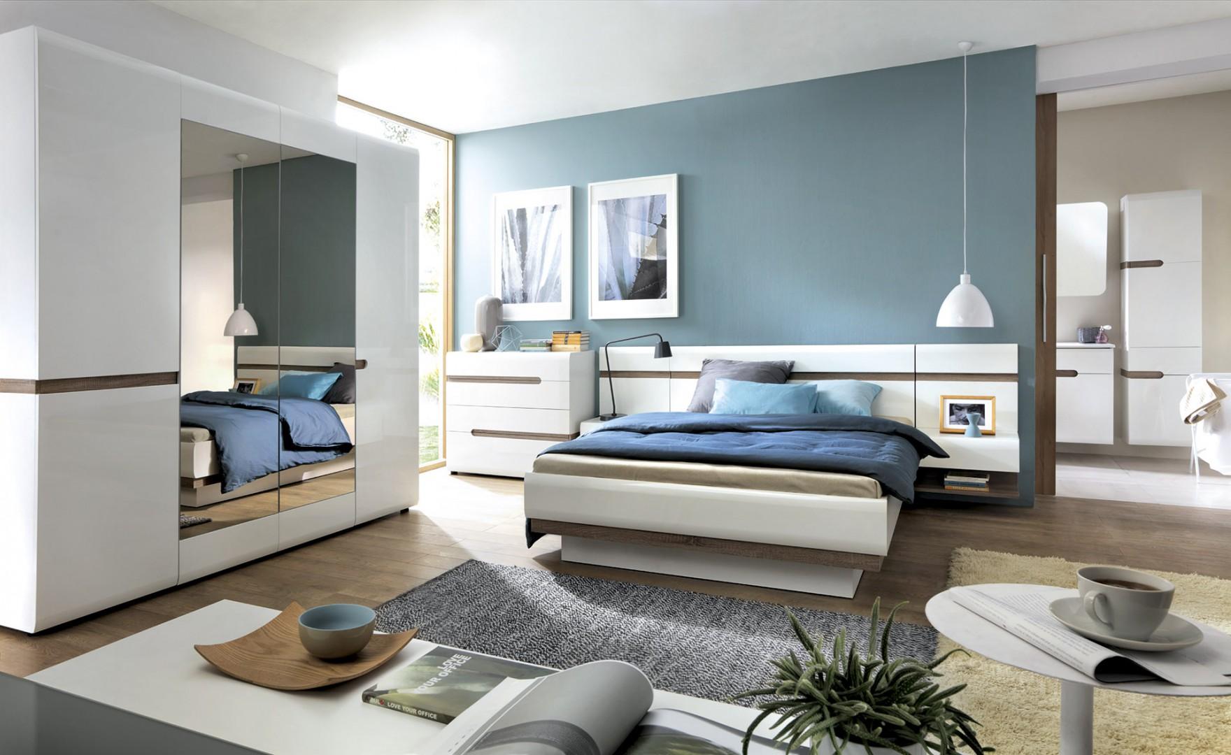Sypialnia Linate firmy Meble Wójcik. Fot. Meble Wójcik