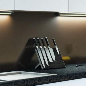 Oświetlenie LED poprawia jakość pracy na blacie roboczym w kuchni. Fot. Häfele