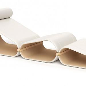 Holenderski projektant Marcel Wanders zaprojektował szezlong dla marki Louis Vuitton. Fot. Louis Vuitton