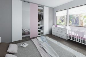 Drzwi przesuwne w sypialni - pomysł na funkcjonalne wnętrze