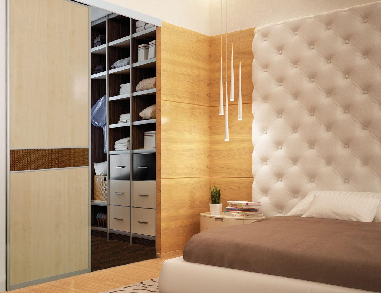 Sypialnia z szafą z drzwiami przesuwnymi firmy Sevroll-System. Fot. Sevroll-System