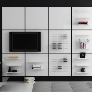 Biblioteczka - panel Walls. Fot. Rosanero