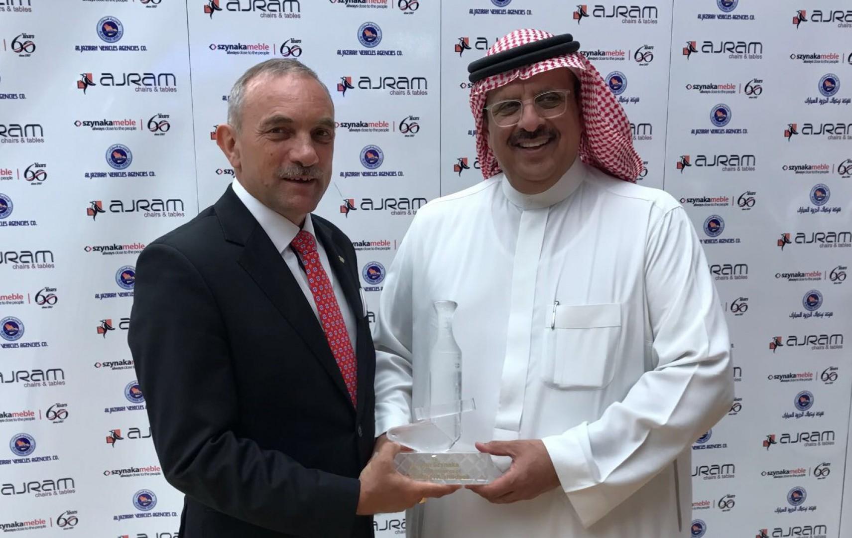 Jan Szynaka, prezes firmy Szynaka Meble, podczas wizyty w Arabii Saudyjskiej. Fot. Materiały prasowe