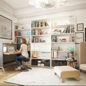 Biurko Nest ze składanym blatem. Fot. Mikomax Smart Office