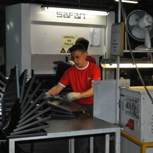 Suwalska fabryka firmy Malow, producenta mebli metalowych. Fot. Mariusz Golak