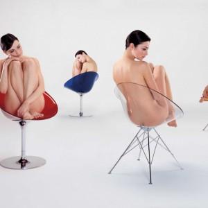 Krzesła zaprojektowane przez Philippe'a Starcka dla firmy Kartell. Fot. Kartell