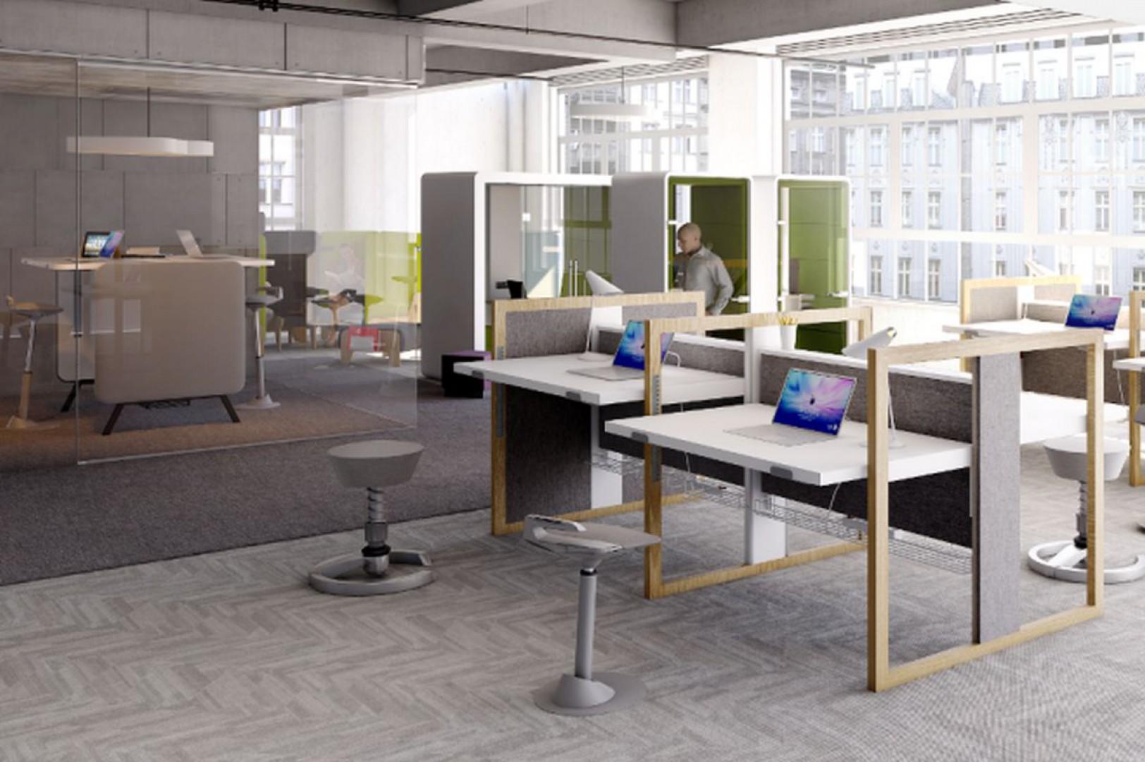 Biurko Stand Up R firmy Mikomax Smart Office. Projekt: Tomasz Augustyniak. Fot. Mikomax Smart Office