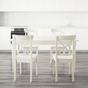 Ingatorp - biały stół w stylu rustykalnym. Fot. IKEA