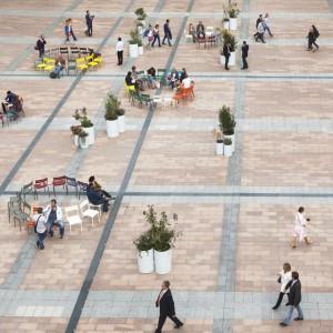 Projekt Konstelacje został zrealizowany przed wejściem do Parlamentu Europejskiego w Brukseli. Fot. Julie Guiches © European Union 2016