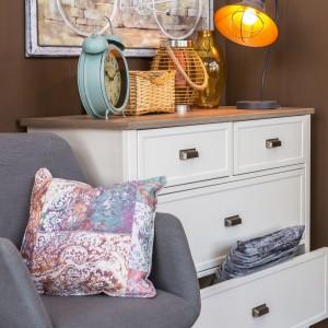 Przytulny kącik będzie idealnym miejscem do relaksu i przyjmowania gości. Na zdjęciu: kolekcja