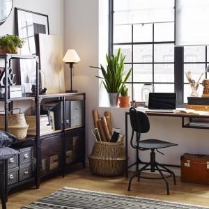 Domowy gabinet w skandynawskim stylu. Fot. IKEA