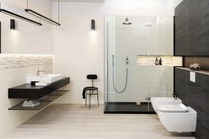 Modna łazienka. Postaw na czerń i biel