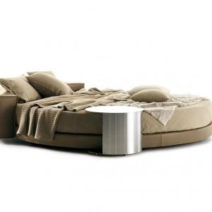 Okrągłe łóżko Glamour. Fot. Mood-Design