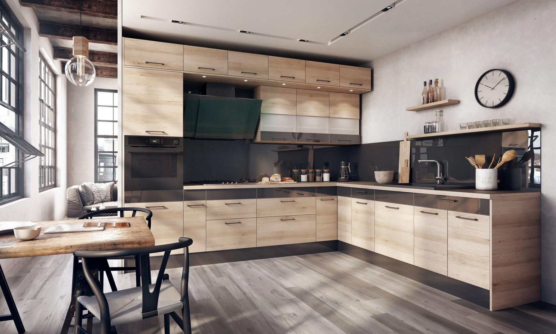 Urządzamy Piękna Kuchnia Duet Kolorów I Drewna Meblecompl