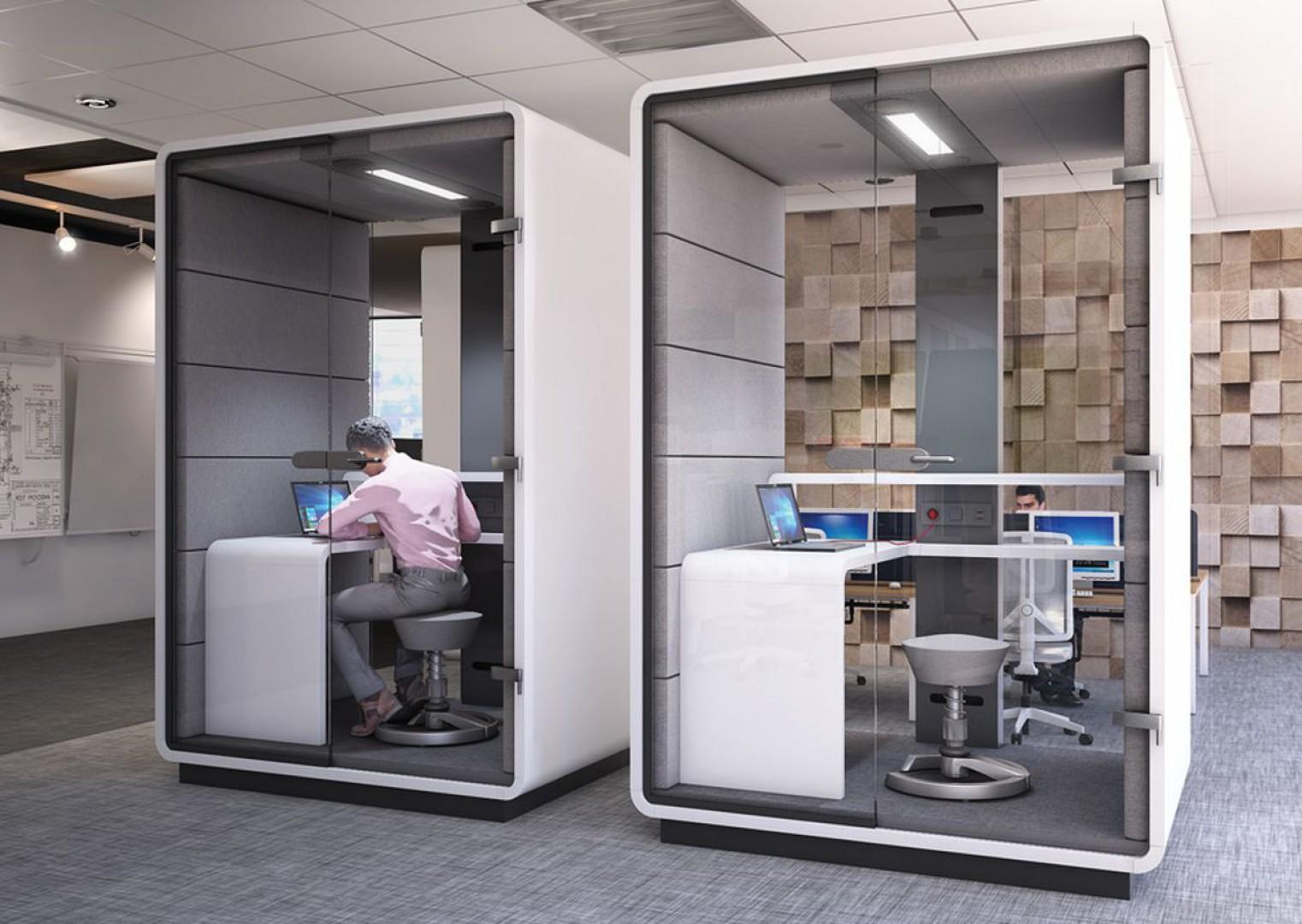 Kabiny Hush Work firmy Mikomax Smart Office. Fot. Mikomax Smart Office