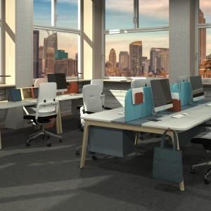 Funkcjonalny system mebli biurowych