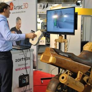 Stoisko firmy Artec 3D na targach