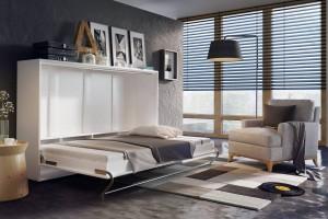 Półkotapczan w salonie - znakomity sposób na małe wnętrze