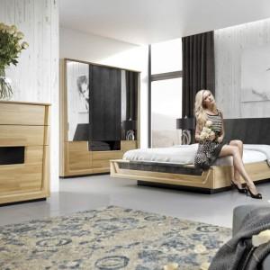 Elegancka komoda w sypialni Maganda firmy Mebin. Fot. Mebin