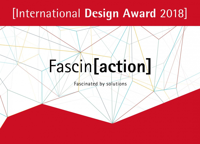 Plakat promujący konkurs projektowy International Design Award 2018.