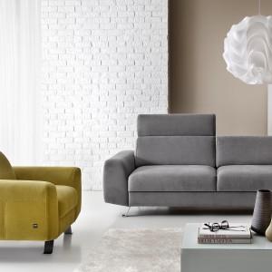"""W meblach z kolekcji """"Pi"""" (Etap Sofa) zastosowano proste szwy linearne, które wyróżniają się ze względu na kontrastową kolorystykę. Fot. Grupa IMS"""